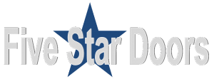 "alt=""Five Star Doors logo used for garage door repair and opener repair in metro Detroit."""