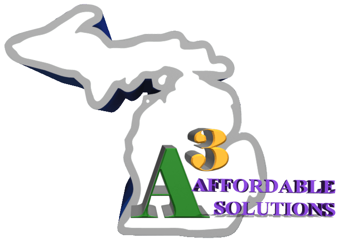 "alt=""a3 affordable solutions logo which represents the best home service companies in Michigan."""